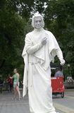 Street performer. New York, NY - June 23: Image of street performer pretending to be statue.  Taken June 23, 2007 on Columbus Circle and New York City Stock Photos