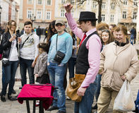 Street performer Royalty Free Stock Image