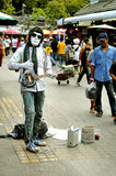 Street Performer in Bangkok Royalty Free Stock Photography