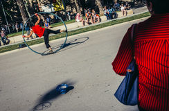 Street performer in Barcelona Stock Photography