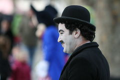 Street Performer / Charlie Chaplin Imitator Royalty Free Stock Images