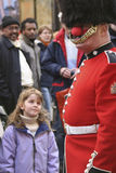 Street performer at Covent Garden. London, UK - April 8, 2006: Unidentified street performer at Covent Garden, one of the main tourist attractions, licensed for Royalty Free Stock Image