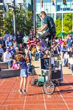 Street Performer in Downtown Baltimore royalty free stock photos