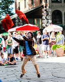 Street Performer Faneuil Hall, Boston, MA Stock Images