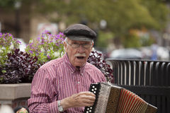 Street Performer in Holland Michigan stock photos