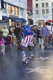 Street performer on Hollywood boulevard Stock Photography