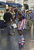 Street performer on Hollywood boulevard Stock Image