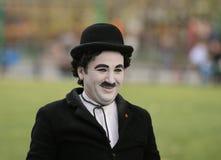 Street Performer Imitates Charlie Chaplin Stock Image