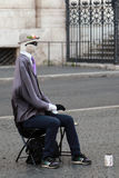 Street performer, invisible man in Rome, Italy Royalty Free Stock Photo