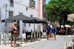 Street performer, Lagos, Portugal. Royalty Free Stock Photo
