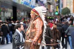 Street performer in Madrid Spain Stock Images