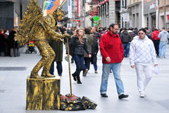 Street performer in Madrid Spain Royalty Free Stock Photo