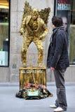 Street performer in Madrid Spain Royalty Free Stock Image