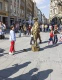 Street performer at Marienplatz in Munich Stock Image