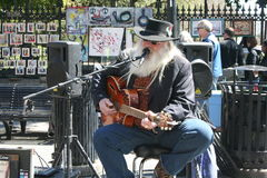 Street Performer. Street musicians performing in the French Quarter, New Orleans, 3/8/15 Stock Image
