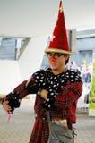 Street performer playing magic in Hong Kong Royalty Free Stock Images