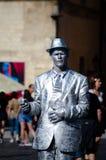 Street performer in Prague royalty free stock photo