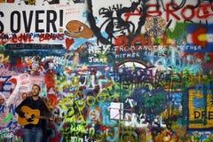 Street performer in Prague Stock Images