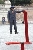 Street performer in Rome, Italy Stock Photos