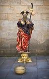 Street performer in Santiago de Compostela Stock Image