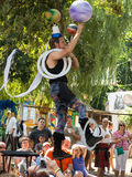 Street performer at a street show at Renaissance Festival. The Minnesota Renaissance Festival is a Renaissance fair, an interactive outdoor event which focuses Royalty Free Stock Image