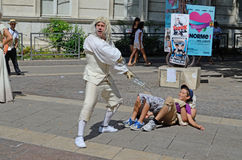 Street Performers, Avignon, France Stock Photo