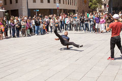 Street Performers Barcelona Royalty Free Stock Photo