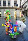 Street performers in Belgrade. Royalty Free Stock Images