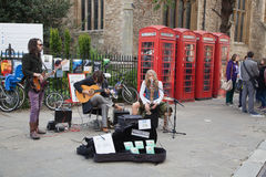 Street performers in Cambridge Stock Images
