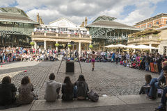 Street performers at the Covent Garden Stock Photo