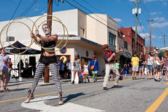 Street Performers Entertain People At Atlanta Festival Royalty Free Stock Photo