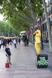 Street Performers Las Ramblas Royalty Free Stock Photography
