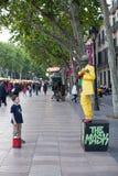 Street Performers Las Ramblas Royalty Free Stock Photos