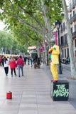 Street Performers Las Ramblas Royalty Free Stock Image