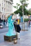 Street Performers Las Ramblas Royalty Free Stock Images