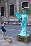 Street Performers Las Ramblas Royalty Free Stock Photo