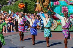 Street performers in a parade at Disneyworld Stock Photo