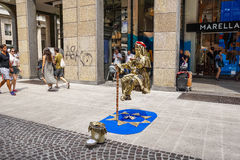 Street performers Stock Images