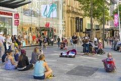 Street performers in Queen Street Mall, Brisbane Stock Photos