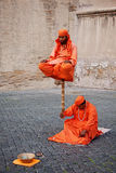 Street performers in Rome Stock Images