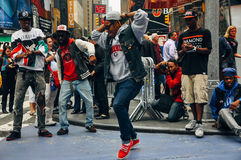 Street performers at Times Square, New York City. stock photography