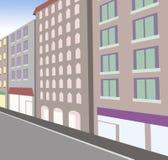 Street perspective. Computer generated illustration of an urban street vector illustration