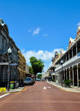 Street Perspective in Historic Fremantle Stock Images