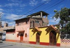 Street in peruvian city Stock Photo
