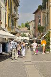 Street in Peschiera Royalty Free Stock Image