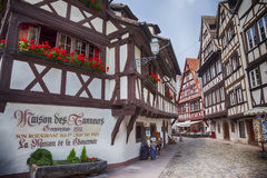 Street of Petit-France - part of old town, Strasbourg,  France, Royalty Free Stock Photography