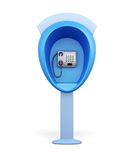 Street phone on stand  on white background. 3d render im Royalty Free Stock Photo