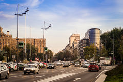 Street Photo of Central Belgrade Royalty Free Stock Images