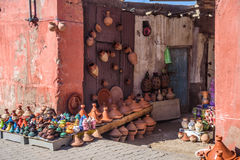 Street photo form Marrakesh, Morocco. City life in Marrakesh called The Pink City, Morocco stock photos