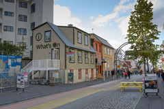Street photo in Reykjavik Royalty Free Stock Image